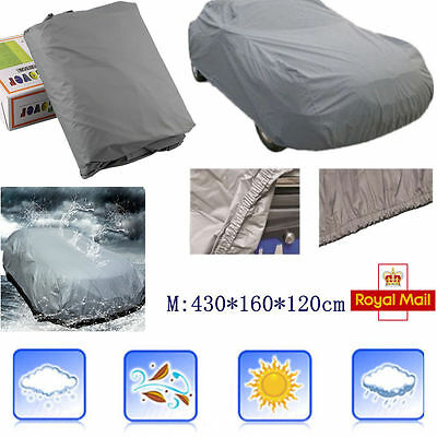 Medium Size Full Car Cover UV Protection Breathable Waterproof Outdoor Indoor AY