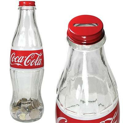 Coca Cola - 12 Inch Replica Glass Contour Bottle Bank - New & Official In Box