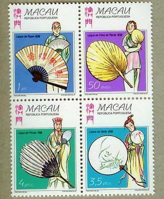 Macau 1997 Traditional Chinese Fans MNH