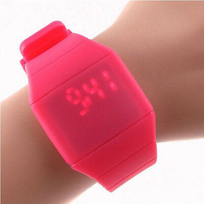 Sports Leisure Waterproof Digital LED Touch Bracelet Wrist Watch For Girls Boys