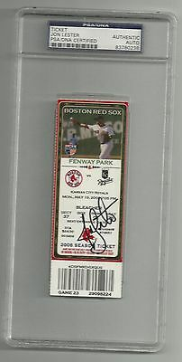 Jon Lester Ip Auto Signed No Hitter Ticket Cubs Red Sox 5/19/08 Psa/dna Slabbed