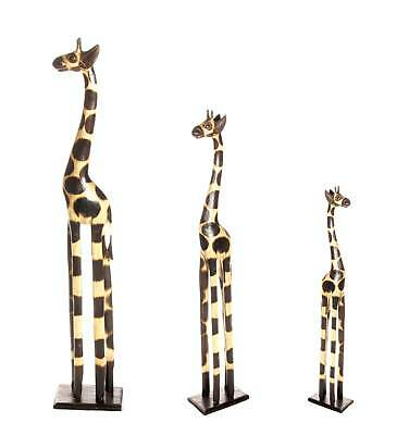 3 set holzgiraffen holzgiraffe giraffen giraffe 180cm 100cm 80cm afrika style gh eur 69 99. Black Bedroom Furniture Sets. Home Design Ideas