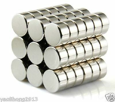 """0.23x0.78/"""" Rare Earth Neodymium N50 10 Strong Disc Round Cylinder Magnet 6x20mm"""