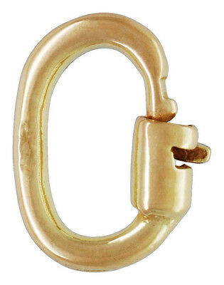 9ct Gold Heavy Locking Link - A Secure & Better Jump Ring - 6mm- for Charms