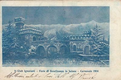 A2939) Club Degli Ignoranti, Feste Di Beneficenza In Salone, Carnevale 1904. Vg.