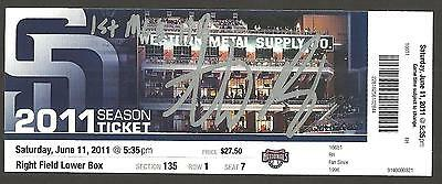 Anthony Rizzo Ip Auto Signed 1St Mlb Hr Game Ticket Padres 6/11/11 Cubs !