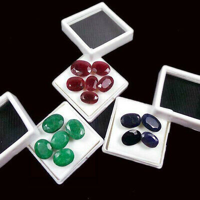 Top Quality Natural 125Ct+/15Pc Natural Ruby Emerald Sapphire Loose Gems Lot qty