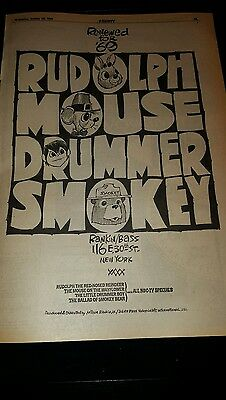 NBC Rudolph The Red Nosed Reindeer, Mouse On The Mayflower Rare Promo Poster Ad!
