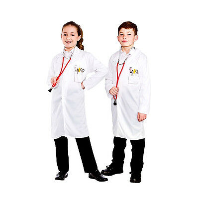 Child DOCTORS VET COAT Medical ER Casualty Fancy Dress Costume Girls Boys Age3-7