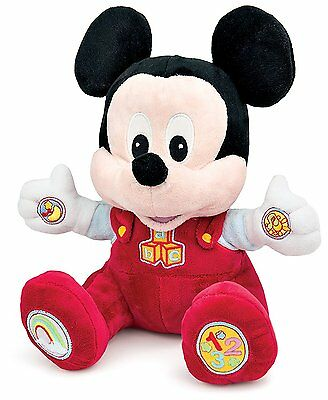 New Mickey Mouse Talking Musical Plush Soft Activity Soft Cuddly Toy 6m+