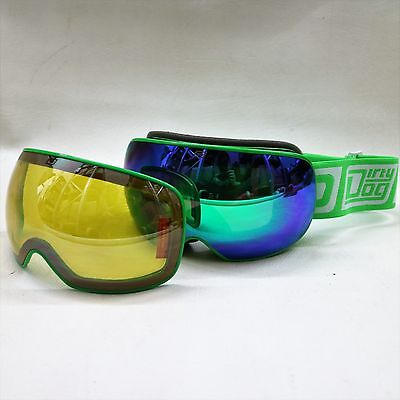 Dirty Dog Mutant Goggles White Two Lenses Cat 2 & Cat 3 Adult Ski Snowboard