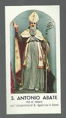 97252 mini  santino holy card santo antonio abate