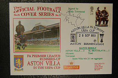 Andy Townsend Aston Villa 1993  Signed First Day Cover