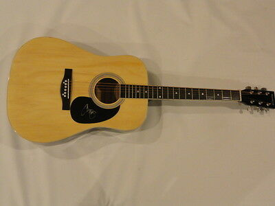 Chris Young Signed Full-Size Natural Acoustic Guitar Country Superstar