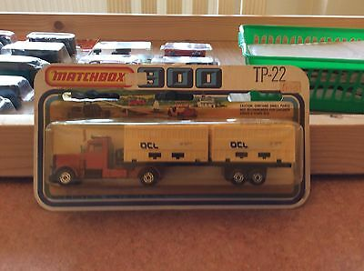 Matchbox Two Pack Tp-22 Long Haul Truck, Ocl Containers,