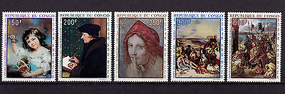 Congo - 1970 Paintings - U/M - SG 209-13