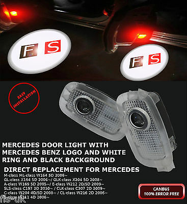 2 X Mercedes Led Car Door Logo Ghost Shadow Light Canbus 100% Error Free