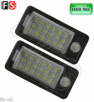 2 X Audi Number Plate Lights White Led 18Smd Canbus 100% Error Free
