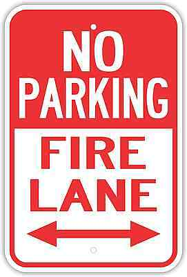 """12x18 /""""No Parking Fire Lane By Order of the Chief/"""" Embossed Steel Sign"""