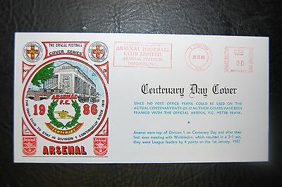 Arsenal Centenary 1986 25/12/86  (00 Frank) Football First Day Cover