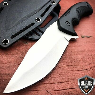TACTICAL SURVIVAL KNIFE Hunting MILITARY BOWIE Fixed Blade Rambo Army Boot NEW