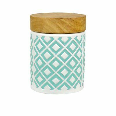 NEW Leaf & Bean Embossed Canister 400ml Mint