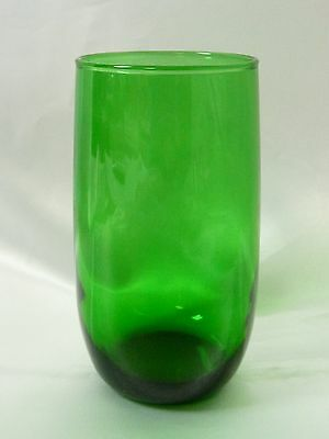 "Anchor Hocking Forest Green Flat Tumbler Glass 5"" Emerald"