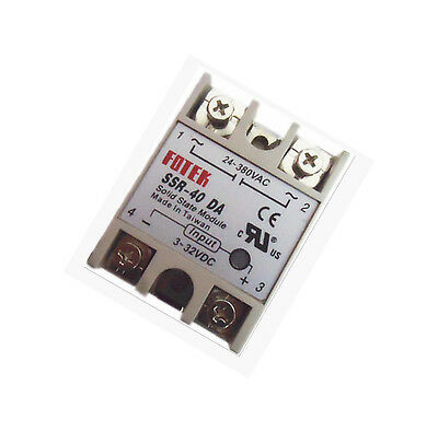 Solid State Relay SSR-40DA 40A  DC-AC 3-32VDC 24-380VAC for Temp Controller Tool