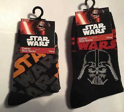 Boys Black Socks with Star Wars and Darth Vader detail