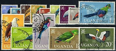 Uganda 1965 Birds set of 14 SG113-126 Fine Used