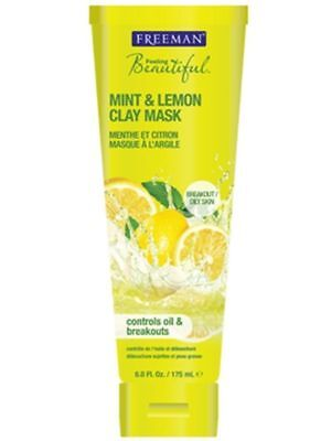 FREEMAN Acne Spot Blackhead Oily Skin Cleaning Mud Face Mask Mint & Lemon 175ml