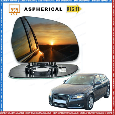 Right Driver side Wide Angle Wing mirror glass for Audi A3 2008-2010 Heated