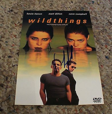 Actress NEVE CAMPBELL signed WILDTHINGS DVD Insert