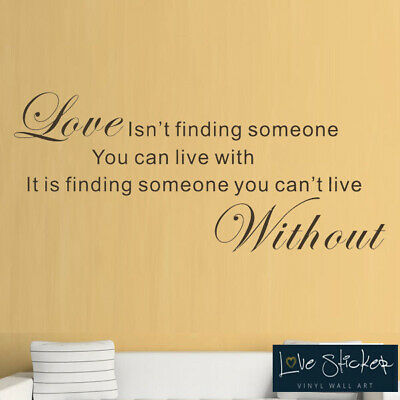 Love Live Without Family Bedroom Quote Wall Art Stickers Decals Vinyl Home Decor