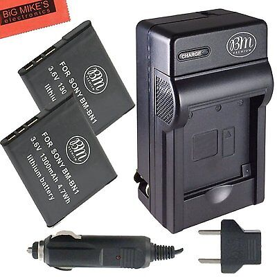 BM NP-BN1 2X Batteries & Charger for Sony CyberShot DSC-TX30,TX5,TX55,TX66,TX7
