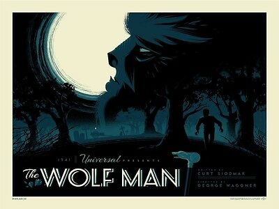 "Tom Whalen Universal Classic Monsters ""The Wolf Man"" Poster Print Regular"
