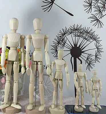 Wooden Movable Artists Manikin Blockhead Jointed Mannequin Puppet Drawing Sketch