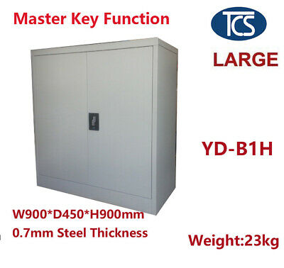 TCS NEW METAL STEEL LOCKER STATIONERY CABINET FILING CUPBOARD Free Shipping