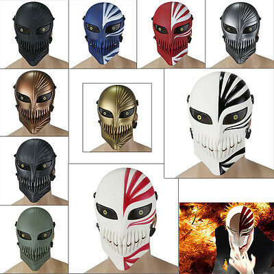 Bleach Anime Death Airsoft Paintball Tactical Protective Mask Army Skeleton Game