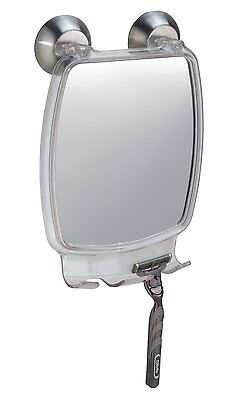 InterDesign Forma Power Lock, Fog Free Mirror,Clear Constructed of clear acrylic