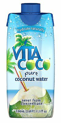 Vita Coco 100% Pure Coconut Water, 11.1-Ounce Containers (Pack of 12) BRAND NEW
