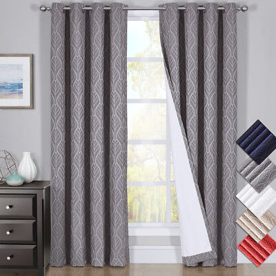 "Prairie Gold Curtains, Single Blackout weave Embossed Grommet Panels - 52"" x 84"""