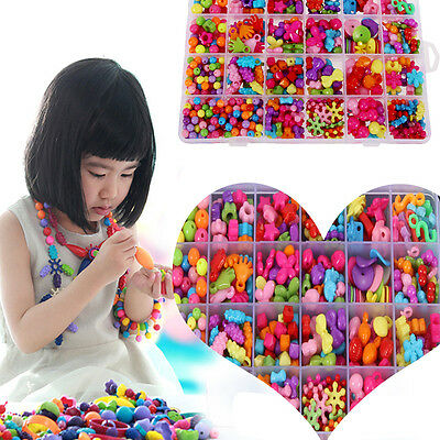 Amblyopia Candy Colors Of Children Wear Beads Bracelet DIY Kids Toys funny game