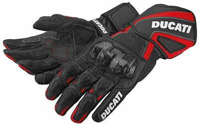Ducati 98102580 Corse Sport Racing Gloves Motorcycle Performance Black-Red