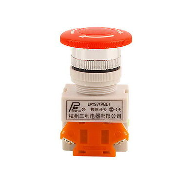 NC N/C Emergency Stop Switch Push Button Mushroom Push Button 4Screw Terminal KL
