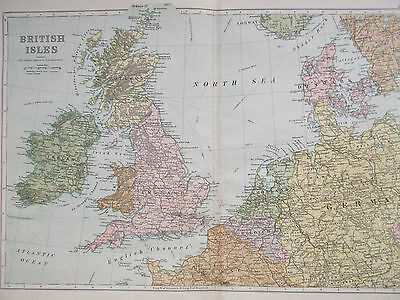 Map of British Isles. c1900. G W Bacon. EUROPE.