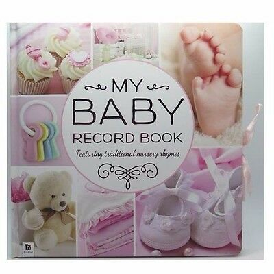 My Baby Girls Record Book – Pink - 1st 12 Months - Hinkler - 77844*