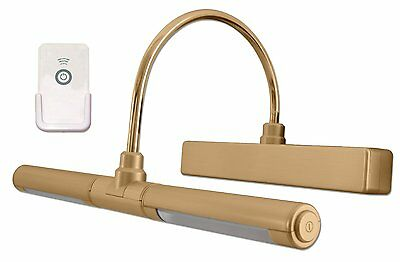 Rite Lite LPL601XLGRC Wireless 4 LED Picture Light with Remote Control Gold NEW