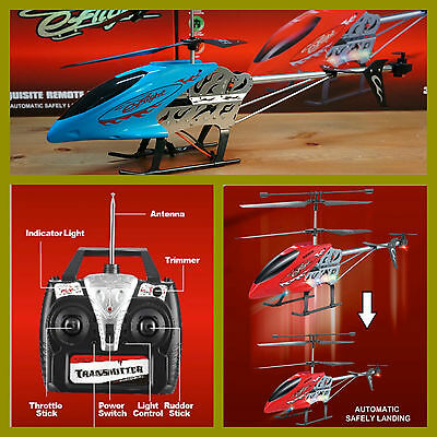 HELICOPTERO 54 cm EFLIGHT AUTOMATIC LANDING BLANCO 3.5 Ch RC 27 MHz HELICOPTER