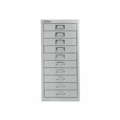 Bisley Desktop Cabinet 10 Drawer H590xW279xD380mm Steel